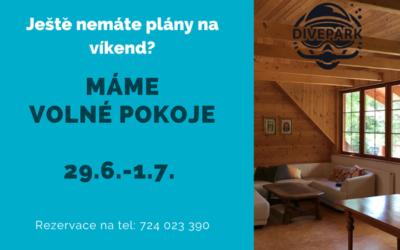 Volné pokoje 29.6.-1.7.2018